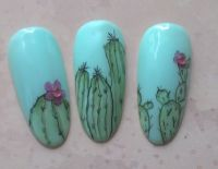 Gelmalerei Kaktus mit Blüte Mustertips