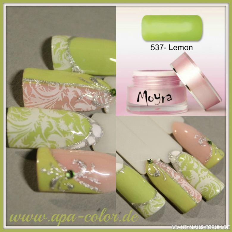 Lemongrün mal romantisch Mustertips
