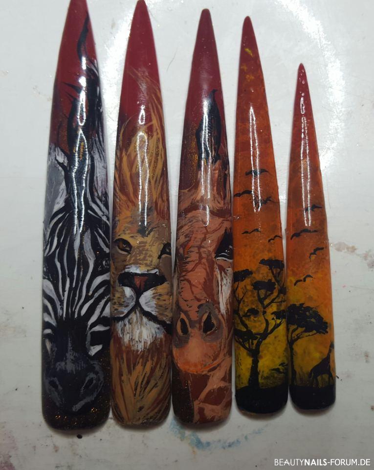 Malerei mit Acrylfarben Afrika-Motive Mustertips