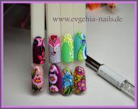 Malerei und Sandtechnik Blumen und bunte Motive Mustertips