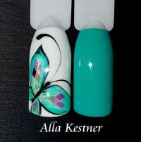 Musterdesign in Mint mit Schmetterling Mustertips