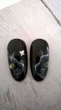 Mustertips im Design schwarze Katze Mustertips