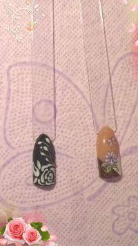 Mustertips mit unterschiedlichen Blumenmotiven Mustertips