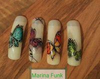 Schmetterlinge mit Acryl Malfarben gemalt Mustertips