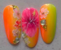 Sommerliche Gelmalerei in Neon - tolle Nailart Mustertips
