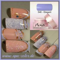 Zartes Lila mit Stamping Mustertips