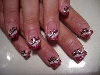 2-farbig + Sticker Nageldesign
