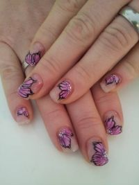 2. versuch flowers Nageldesign