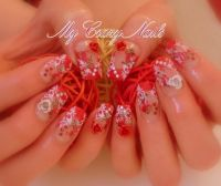 3D Flower Nageldesign