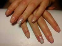 altrosa French und Fullcover mit Rose Nageldesign