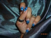 Aqua bleu Nageldesign