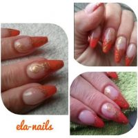Ballerina French coral Nageldesign