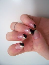 black & gold Nageldesign