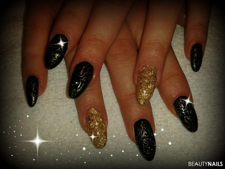 blattgold Nageldesign -  Nailart