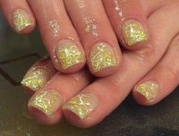 Blattgold Nageldesign