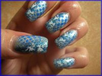 blue Nageldesign