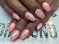 Blumen full cover Nageldesign