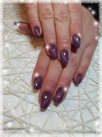Cat Eye Purple Nageldesign