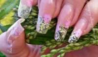 cleardesign mit airbrush Nageldesign