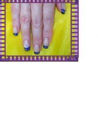 Dark Violett Nageldesign