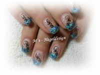 der 2. Versuch mit Magic-Chrom-Folie Nageldesign