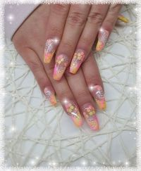 Farbenfrohes Airbrush Design Nageldesign