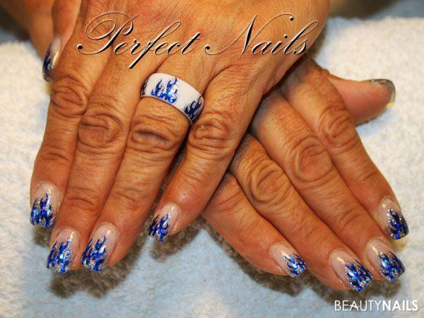 Flammen Sticker Nageldesign - Creativ Sticker und Ringrohling von Creativ Art Shop .... Nailart