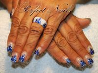 Flammen Sticker Nageldesign