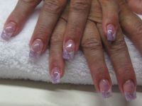 Flieder Nageldesign