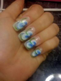 flower blue Nageldesign