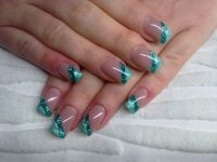 french metallic-mint Nageldesign