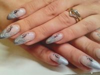 french metallic silber Nageldesign