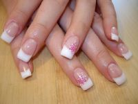 French mit Doppel-Stamping Nageldesign