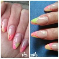 French neon Nageldesign