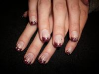 french robin mit stamping sterne Nageldesign
