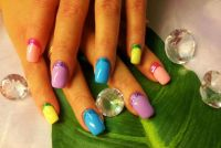 Full Cover bunt Nageldesign