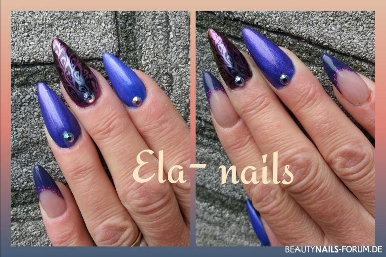Fullcover in blau Nageldesign