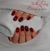 Fullcover in Rot Nageldesign