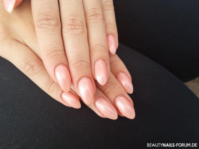 Fullcover metallic bourbon Peach Nageldesign
