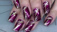 Fullcover Nageldesign in Weinrot Nageldesign