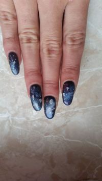 Galaxy Nägel Design Nageldesign