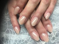 Gelmodellage naturell Nude Nageldesign
