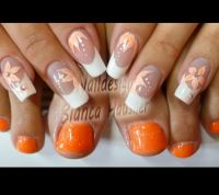 gepinselt Nageldesign