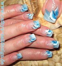 getrokte french Nageldesign
