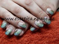Glitter+Airbrush Nageldesign