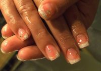 Glitter French Nageldesign