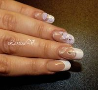 Glitter- French und 3D Nageldesign