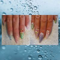 Glitzer Paradies Nageldesign
