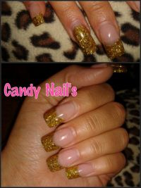 Gold Glitzer Nägel Nageldesign