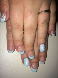 "Hellblau french "" its a boy"" Nageldesign"